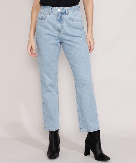 Calca-Jeans-Feminina-Mindset-Reta-Paris-Cintura-Alta-Azul-Claro-Marmorizado-9987763-Azul_Claro_Marmorizado_1