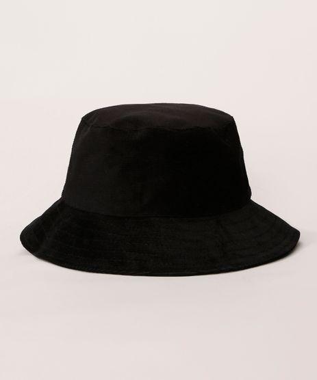 Bucket-Hat-Feminino-de-Veludo-Cotele-Preto-9982830-Preto_1