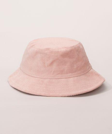 Bucket-Hat-Feminino-de-Veludo-Cotele-Rosa-9982831-Rosa_1