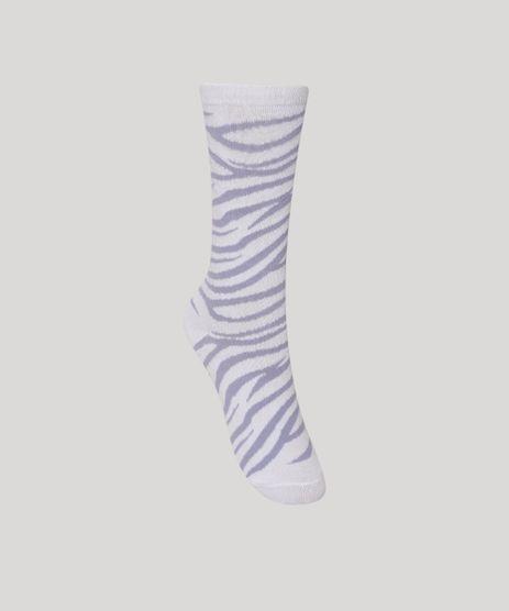 Meia-Feminina-Cano-Alto-Estampada-de-Animal-Print-de-Zebra-Lilas-9986917-Lilas_1