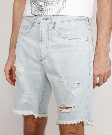Bermuda-Jeans-Masculina-Slim-Destroyed-Azul-Claro-9978688-Azul_Claro_1