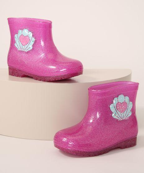 Galocha-Infantil-LueLua-Concha-com-Glitter-Pink-9987651-Pink_1