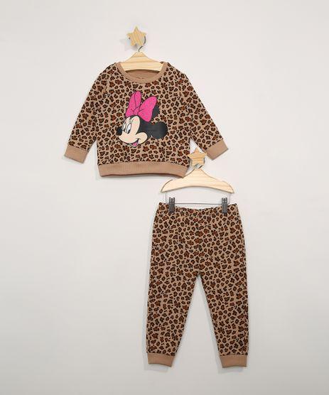 Conjunto-de-Moletom-Infantil-Blusa-Estampada-Animal-Print-de-Onca-Minnie---Calca-Jogger-Marrom-9976545-Marrom_1