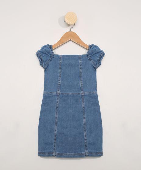Vestido-Jeans-Infantil-Manga-Bufante-Curta-Azul-Medio-9983161-Azul_Medio_1