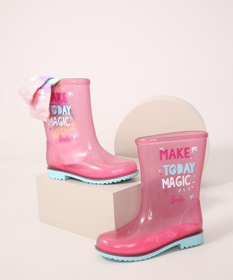Galocha-Infantil-Grendene-Barbie-Transparente---Meia-Rosa-9986582-Rosa_1