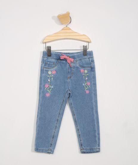 Calca-Jeans-Infantil-com-Bordado-e-Cordao-Azul-Medio-9982012-Azul_Medio_1