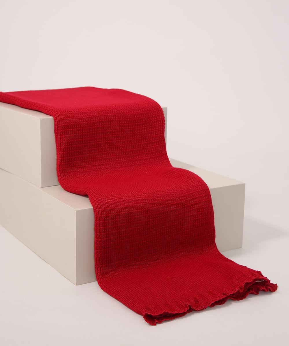 Manta de Tricô Infantil Pimpolho Vermelha