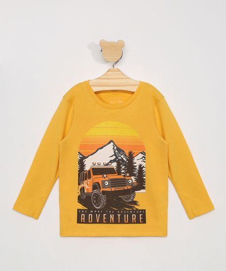 Camiseta-Infantil-Manga-Longa-Carro-e-Paisagem-Amarela-9976109-Amarelo_1