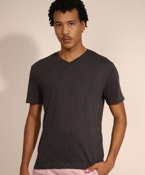 Camiseta-Masculina-Basica-Manga-Curta-Gola-V-Cinza-Mescla-Escuro-9597169-Cinza_Mescla_Escuro_1