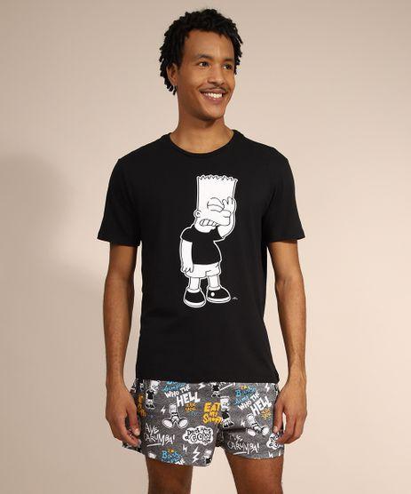 Pijama-Masculino-Bart-Simpson-Manga-Curta-Preto-9980534-Preto_1