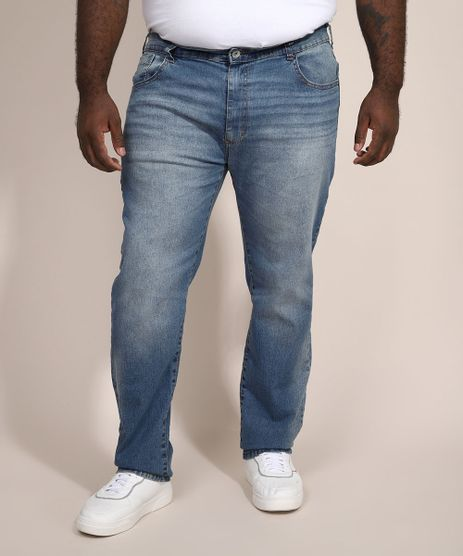 Calca-Jeans-Masculina-Plus-Size-Slim-Azul-Medio-9969123-Azul_Medio_1