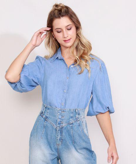 Camisa-Jeans-Feminina-Manga-Bufante-Azul-Medio-9989001-Azul_Medio_1