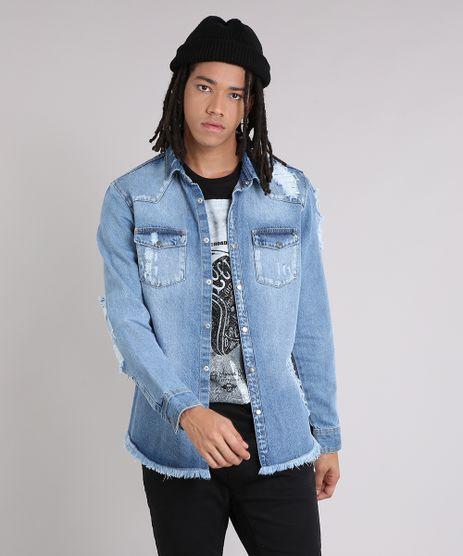 Jaqueta-Jeans-Masculina-Destroyed-Azul-Claro-9166446-Azul_Claro_1