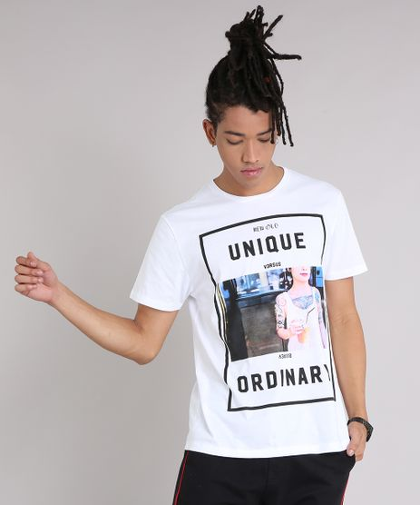 Camiseta-Masculina--Unique-Versus-Ordinary--Manga-Curta-Gola-Careca-Branca-9079879-Branco_1