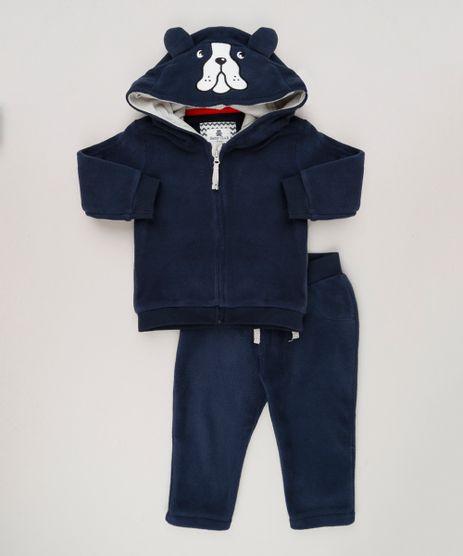 Conjunto-Infantil-Cachorro-de-Blusao-com-Capuz---Calca-com-Bolso-em-Algodao---Sustentavel-Azul-Marinho-8949661-Azul_Marinho_1