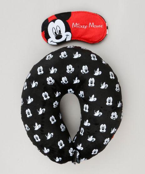 Kit-de-Apoio-de-Cabeca---Tapa-Olho-Estampado-Mickey-Mouse-Preto-9229231-Preto_1