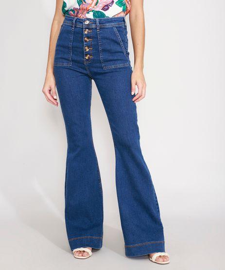 Calca-Super-Flare-Jeans-com-Botoes-Cintura-Super-Alta-Azul-Escuro-9989092-Azul_Escuro_1