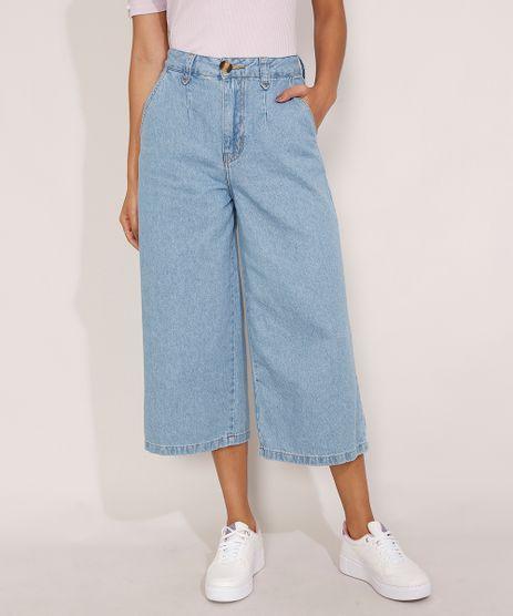 Calca-Pantacourt-Jeans-Cintura-Super-Alta-com-Pence-Azul-Medio-9988579-Azul_Medio_1