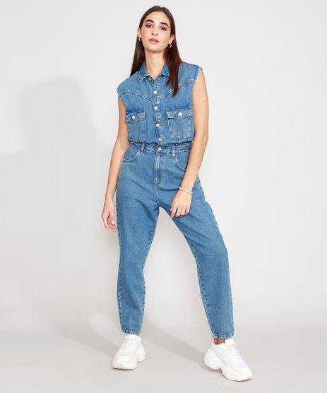 Macacao-Jeans-com-Bolsos-Sem-Manga-Azul-Medio-9990665-Azul_Medio_1