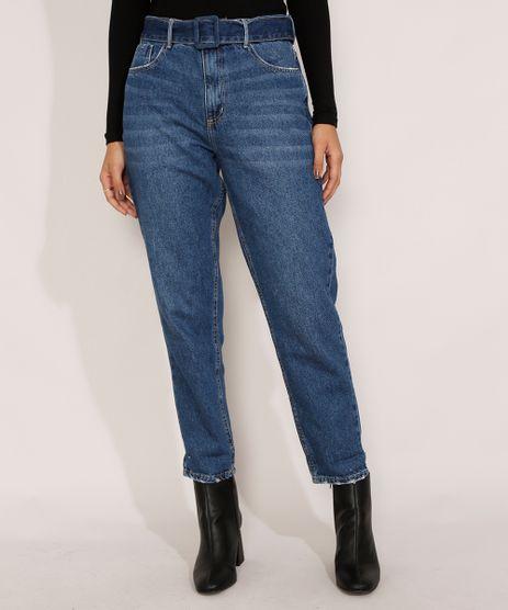 Calca-Mom-Jeans-Cintura-Super-Alta-com-Cinto-Azul-Escuro-9985309-Azul_Escuro_1