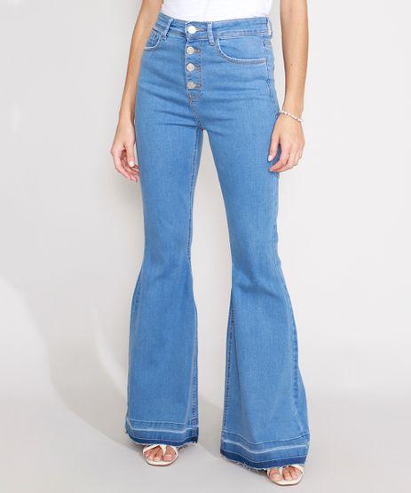 Calca-Super-Flare-Jeans-com-Botoes-Cintura-Super-Alta-Azul-Medio-9989088-Azul_Medio_1