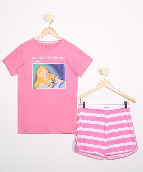 Pijama-Juvenil-Bela-Adormecida-Manga-Curta-Rosa-9978330-Rosa_1