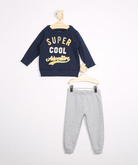 Conjunto-de-Moletom-Infantil-Blusa--Super-Cool--Azul-Marinho---Calca-Jogger-Cinza-Mescla-9976221-Cinza_Mescla_1