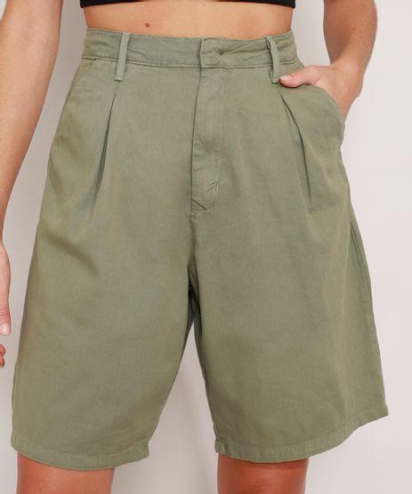 Bermuda-de-Sarja-Alfaiataria-Cintura-Super-Alta-Mindset-Verde-Militar-9990999-Verde_Militar_1