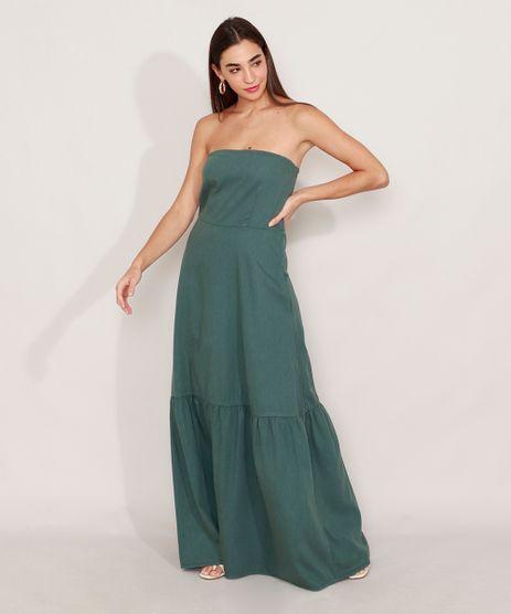 Vestido-Tomara-que-Caia-com-Recorte-e-Bolsos-Longo-Mindset-Verde-Escuro-9976990-Verde_Escuro_1