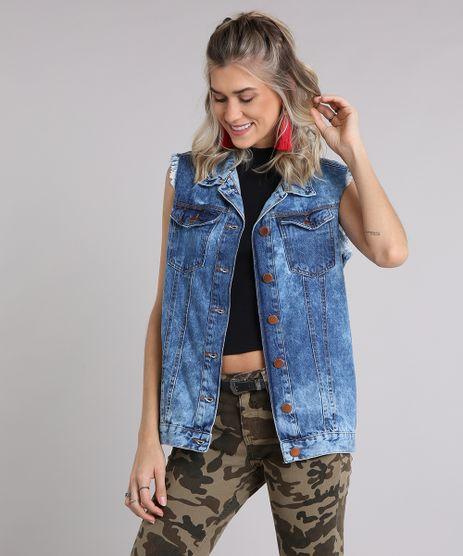 Colete-Jeans-Feminino-Oversized-com-Cava-Desfiada-Azul-Escuro-9031176-Azul_Escuro_1