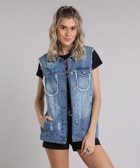 Colete-Jeans-Feminino-Oversized-Destroyed-com-Cava-Desfiada-Azul-Medio-8833838-Azul_Medio_1