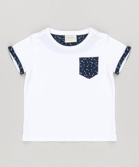 Camiseta-Infantil-com-Bolso-Estampado-Flechas-Manga-Curta-Gola-Careca-em-Algodao---Sustentavel-Off-White-8620533-Off_White_1