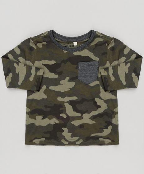 Camiseta-Infantil-Estampada-Camuflada-com-Bolso-Manga-Longa-Gola-Careca-Verde-Militar-9140064-Verde_Militar_1