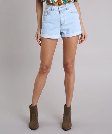 Short-Jeans-Feminino-Mom-com-Barra-Dobrada-Azul-Claro-9210863-Azul_Claro_1