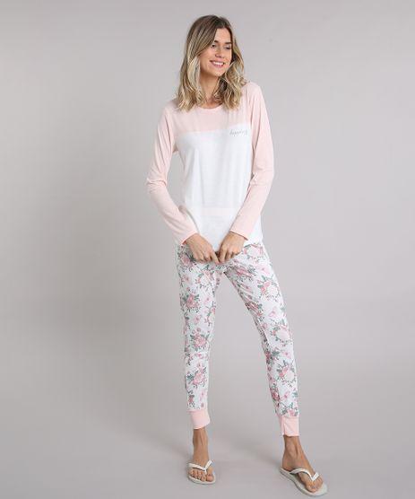 Pijama-Feminino--Happiness--com-Recorte-Manga-Longa-Off-White-9133598-Off_White_1