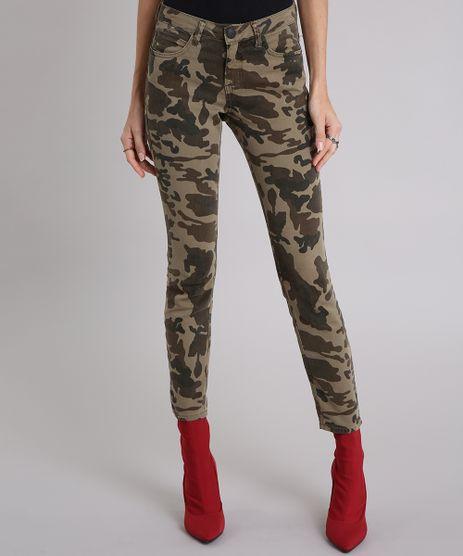 Calca-Feminina-Super-Skinny-Estampada-Camuflada-Verde-Militar-9210660-Verde_Militar_1