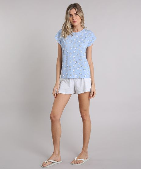 Pijama-Feminino-Estampado-Unicornio-Manga-Curta-Azul-Claro-9123165-Azul_Claro_1