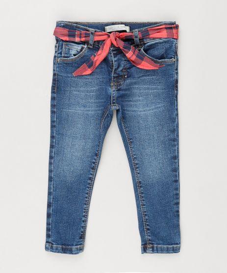 Calca-Jeans-Infantil-com-Bandana-Xadrez-Azul-Escuro-9210004-Azul_Escuro_1