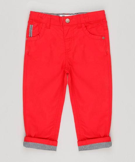Calca-Color-Infantil-com-Barra-Dobrada-Listrada-Vermelha-8950639-Vermelho_1