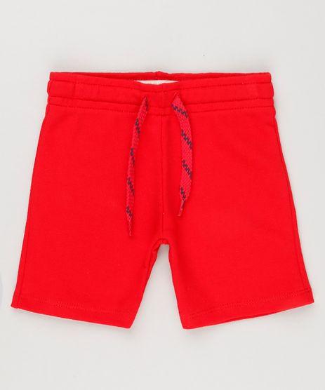 Bermuda-Infantil-Basica-em-Moletom-Vermelha-8615081-Vermelho_1