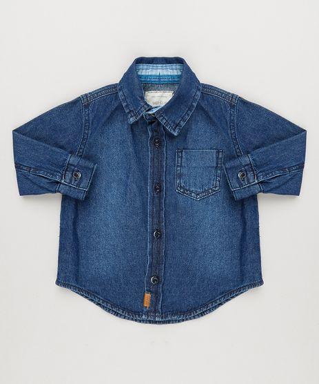 Camisa-Jeans-Infantil-com-Bolso-Manga-Longa-Azul-Escuro-8731194-Azul_Escuro_1