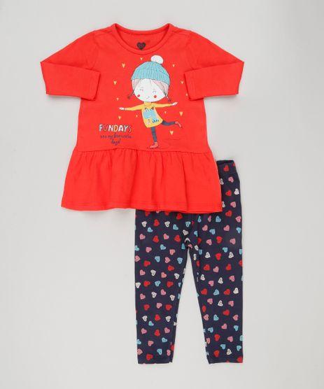 Conjunto-Infantil-de-Vestido-Divertido--Fundays--Vermelho-Manga-Longa---Calca-Legging-Estampada-com-Coracoes-Algodao---Sustentavel-Azul-Marinho-9155702-Azul_Marinho_1