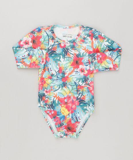 Maio-Body-Infantil-Estampado-Floral-Manga-Longa-com-Protecao-UV50--Verde-Claro-9120390-Verde_Claro_1