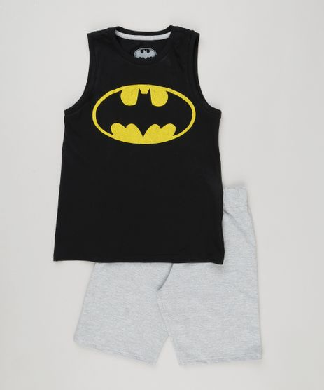 Conjunto-Batman-de-Regata-Gola-Careca-Preta---Bermuda-em-Moletom-Cinza-Mescla-9222943-Cinza_Mescla_1