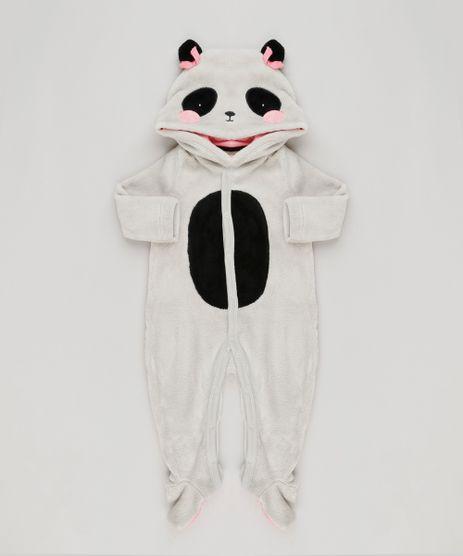 Macacao-Infantil-Panda-com-Capuz-Manga-Longa-em-Fleece-com-Algodao---Sustentavel-Cinza-8946707-Cinza_1
