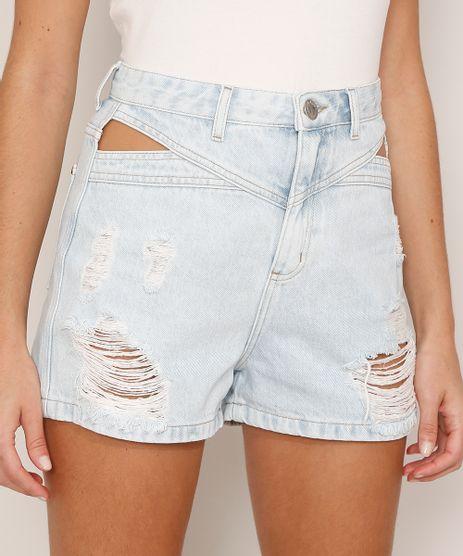 Short-Mom-Jeans-Destroyed-com-Vazado-Cintura-Super-Alta-Azul-Claro-9992720-Azul_Claro_1