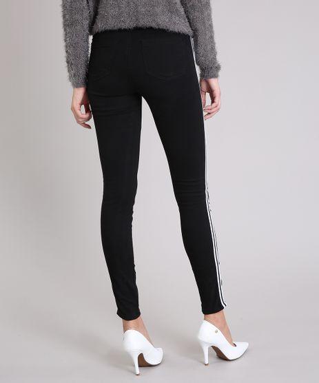 Calca-Jeans-Feminina-Super-Skinny-Cintura-Super-Alta-com-Faixa-Lateral--Preta-9201308-Preto_1