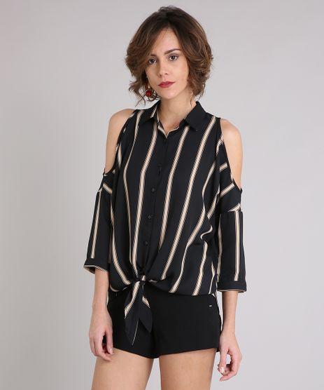Camisa-Feminina-Listrada-Open-Shoulder-Alongada-com-Vazados-Manga-Longa-Preta-9029326-Preto_1