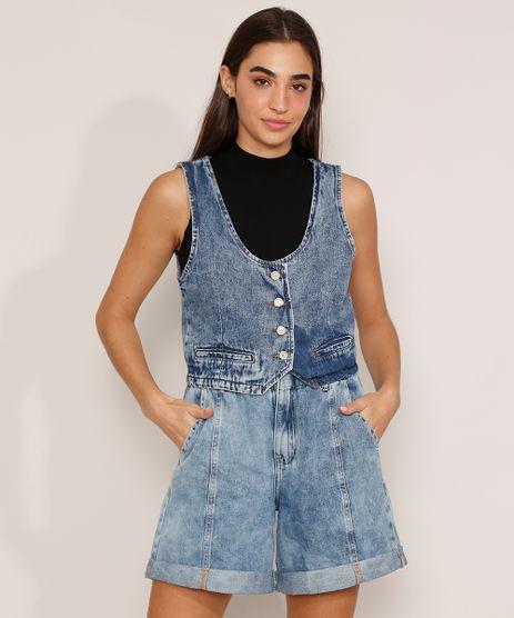 Colete-Cropped-Jeans-Marmorizado-com-Fivela-Decote-Redondo-Azul-Medio-9985785-Azul_Medio_1