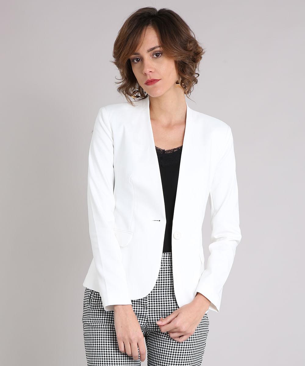 6da8878f93 ... Blazer-Feminino-Sem-Gola--Off-White-8886587-Off White 1